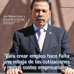 Fotografía a José Manuel López y García de la Serrana. Magistrado de la Sala de lo Social del Tribunal Supremo en la entrevista de HispaColex
