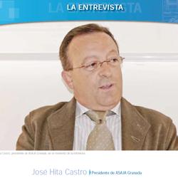 Fotografía de José Hita Castro. Presidente de ASAJA Granada en la portada de la entrevista de HispaColex