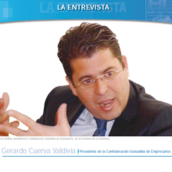 Fotografía de portada de la entrevista de HispaColex a Gerardo Cuerva Valdivia. Presidente de la Confederación Granadina de Empresarios