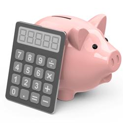 La imagen muestra la ucha de un cerdo junto a una calculadora en relación con los fondos de inversión