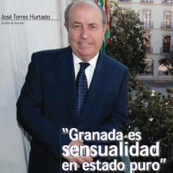 Fotografía de portada a José Torres Hurtado. Alcalde de Granada en la entrevista de HispColex