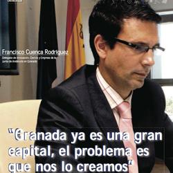 Fotografía de Francisco Cuenca Rodríguez. Delegado de Innovación, Ciencia y Empresa de la Junta de Andalucía en Granada en su entrevista de HispaColex