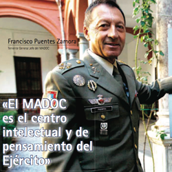 Fotografía de portada de la entrevista de HispaColex a Francisco Fuentes Zamora. Teniente General Jefe del MADOC