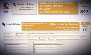 Fotografía de la web e la Agencia Tributaria en el apartado donde aparece el formulario para el modelo 347