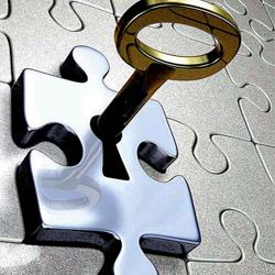 La imagen muestra un puzzle en el que una de sus piezas es una cerradura en la que hay encajada una llave. Esta imagen hace referencia al Joint Venture como al`ternativa a la UTE