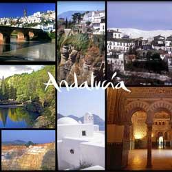 Imagen que muestra varias escenas turisticas de Andalucía en referencia a la nueva ley de turismo de Andalucía
