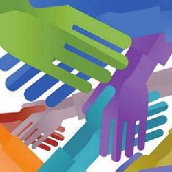 imagen de varias manos dibujadas estrechándose unas con las otras en referencia a la competencia desleal
