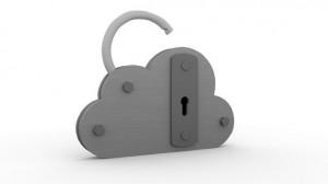 Imagen de un candado en forma de nube haciendo referencia a la protección de datos en la nube de internet