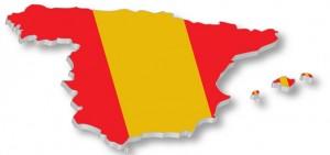 Imagen de un mapa de España con los colores de su bandera en referencia a la unidad de mercado español