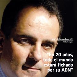 Fotografía de portada de José Antonio Lorente, Médico-Investigador en la entrevista de HispaColex