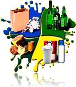 Dibujo que plasma varios residuos con diferente proceso de reciclaje en relación con la tasa impuesta en Granada