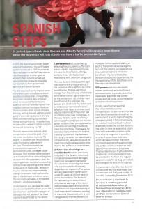 La imagen muestra una fotografía del artículo Spanish Steps en la resvista PI Focus de las asociación APIL