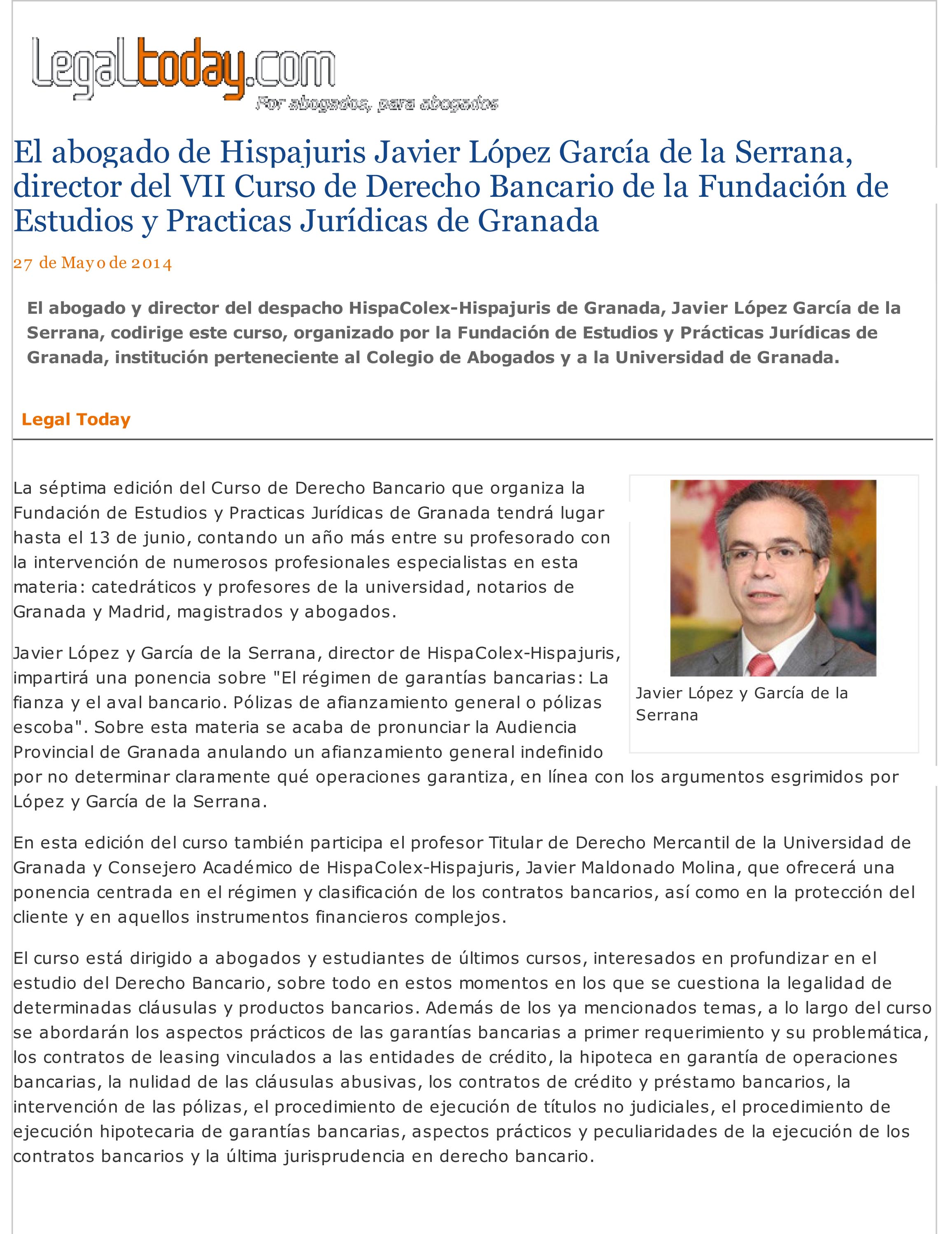(El abogado de Hispajuris...as Jur355dicas de Granada)