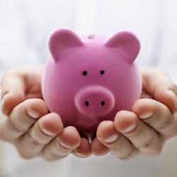 Unas manos que sujetan la ucha de un cerdo en relación a las inversiones mediante sicav
