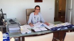 Directora de HispaColex Málaga en su despacho de las nuevas oficinas de Málaga