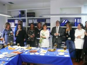 Varios de los miembros de HispaColex Servicios Jurídicos en su comida de Navidad 2014