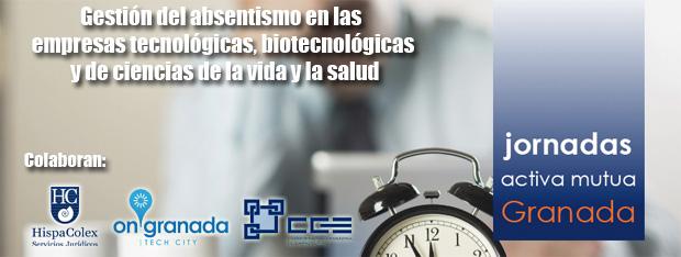 Cartel de la jornada sobre gestión del absentismo en las empresas tecnológicas, biotecnológicas y de ciencias de la vida y la salud