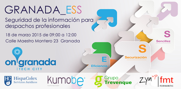 Cartel de la jornada de la seguridad de la información para despachos profesionales
