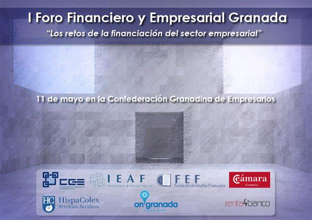 Cartel de la jornada I Foro financiero y empresarial Granada