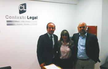 Jose Manuel Castellano, abogado y director internacional de HispaColex, en un encuentro con el despacho de abogados Contexto Legal