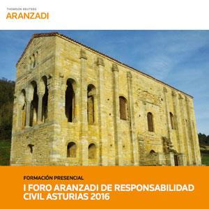 Cartel del foro Aranzadi sobre Responsabilidad Civil en Asturias