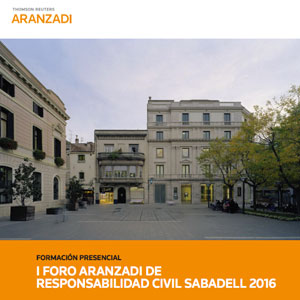 Cartel del foro Aranzadi sobre Responsabilidad Civil en Sabadell