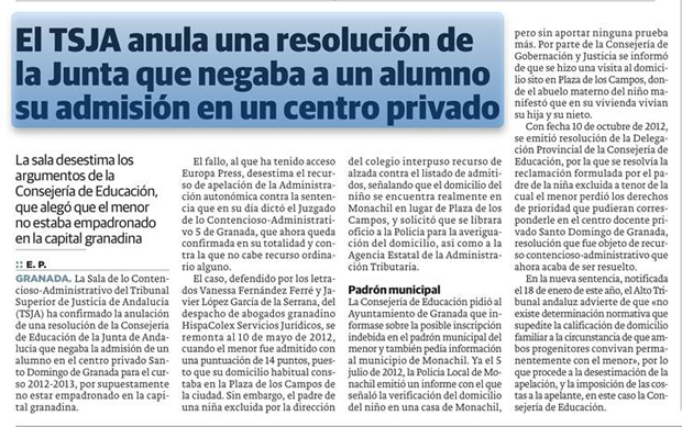 tsja-anula-resolucion-junta-andalucia-adminsion-nino-centro-privado