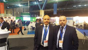 Jose Manuel Castellanoi y Juan Buendía, abogados de HispColex, en el evento internacional Transfiere