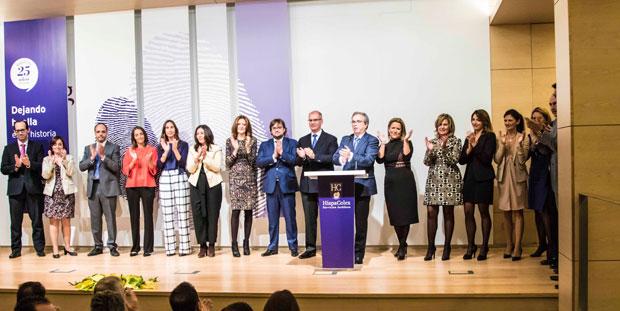 Varias de las abogadas y directivas mujeres de HispaColex reunidas en un evento de la EIG