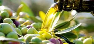 Varias aceitunas recolectadas por las cooperativas y bañadas en aceite de oliva