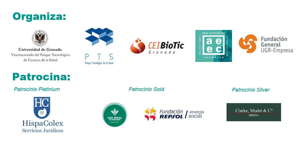Logotipos de los organizadores y patrocinadores del Congreso de Cientificos Emprendedores