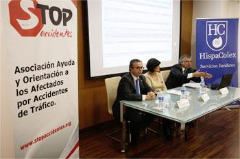 Jornada para víctimas de accidentes de tráfico en colaboración son Stop Accidentes en la sede central de HispaColex en Granada