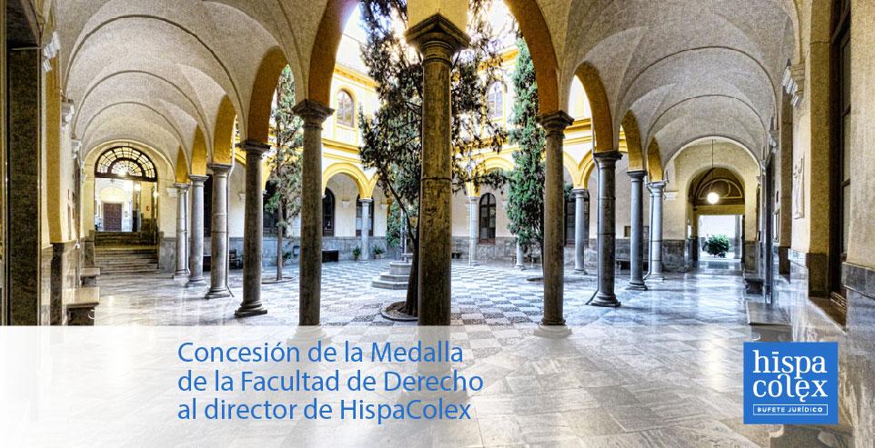 Concesión de la Medalla de la Facultad de Derecho al director de HispaColex