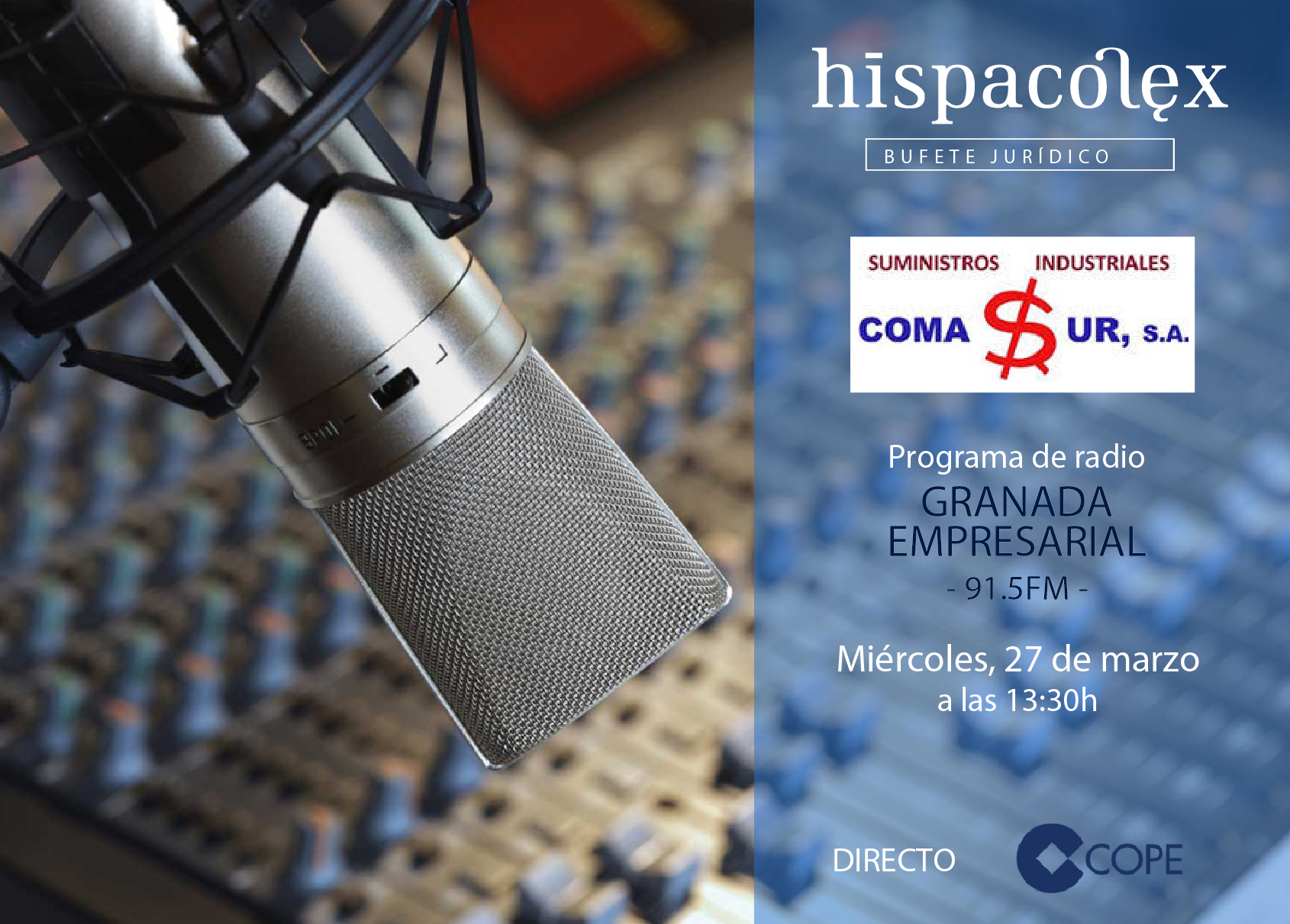 Imagen del audio Granada Empresarial: Entrevista a María José Dumont Jaimez, representante de COMASUR