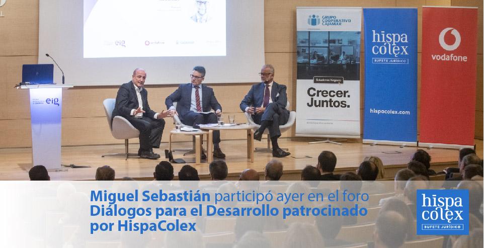 diálogos para el desarrollo con miguel sebastián patrocinado por hispacolex