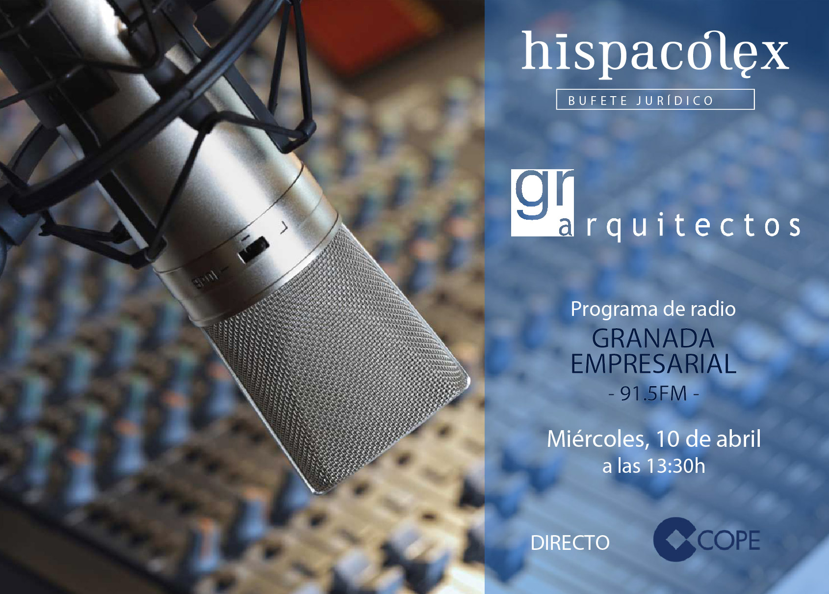 Imagen del audio Granada Empresarial: Entrevista a Juan Carlos de los Reyes, Director de GR Arquitectos