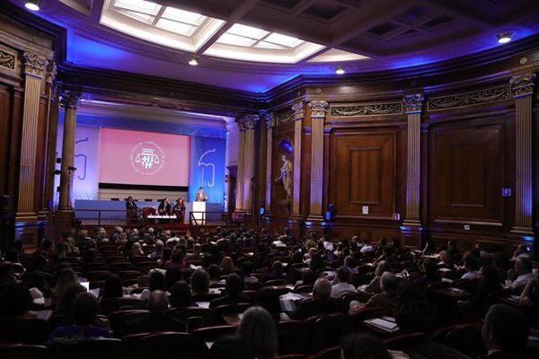 Salón de Actos del ICAB (Palauet Casades) de Barcelona durante el Congreso