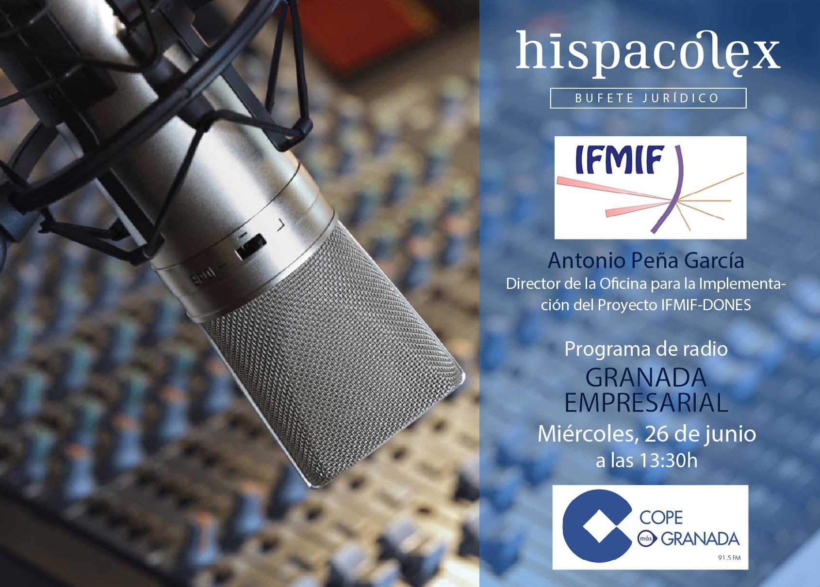 Imagen del audio Granada Empresarial: Entrevista a Antonio Peña, Director de la oficina para la implementación del proyecto IFMIF-DONES